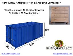 how much does it cost to fill a container with antiques the