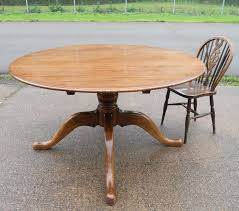 Large Oak Kitchen Table by Round Oak Pedestal Dining Table To Seat Eight