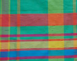 Silk Drapery Fabric By The Yard Plaid Silk Etsy