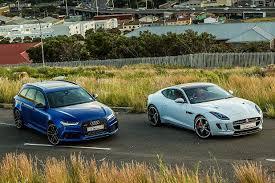 audi rs6 vs audi rs6 avant vs jaguar f type coupe awd r the showdown