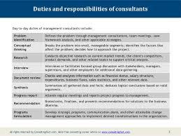 description for a management consultant