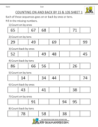 count by tens worksheets