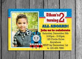 thomas the train birthday invitations