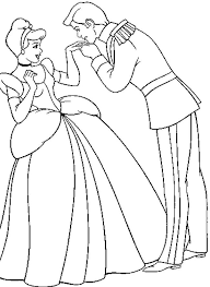 prince kissing hand cinderella coloring pages 23435