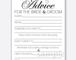 advice for the and groom cards advice for the groom printable cards for a wedding or