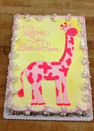 giraffe baby shower cake baby shower trefzger s bakery