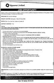 Geologist Resume Template Gis Database Geologist Tayoa Employment Portal