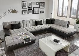 big sofa wohnlandschaft cardiff big sofa ecksofa schwarz wei grau