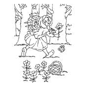 coloring pages red riding hood