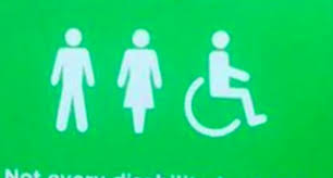 asda disabled bathroom sign welcomes those with u0027invisible