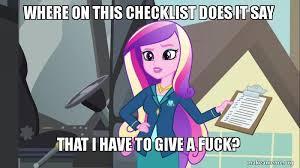 Macro Meme - 1201422 checklist dean cadance equestria girls friendship games