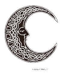 of tattoos celtic moon designs
