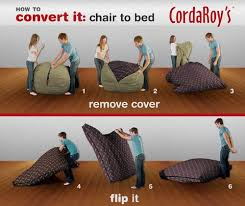 corda roy u0027s beanbag chair and bed shark tank products
