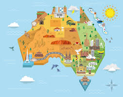 austrial map australia graphic map on behance
