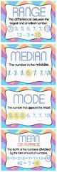 free mean median mode u0026 range posters math for fourth grade