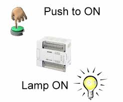 push to on push to off plc program using no nc and coil plc plc