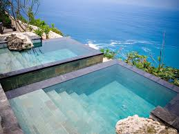 infinity pool bulgari resort indonesia fantastic his and her