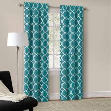 Pink And Teal Curtains Decorating Appealing Floral Curtains With Pink Peonies Indigo Blue Bonsai