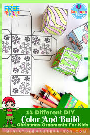 14 different diy color and build ornaments for
