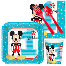mickey s 1st party supplies birthdayexpress com disney mickey mouse 1st birthday snack pack