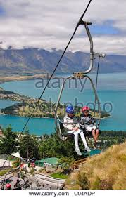 New Zealand Chair Swing Chairlift Queenstown New Zealand Stock Photo Royalty Free Image