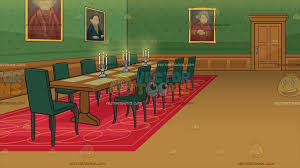 Grand Dining Room A Grand Dining Room In A Castle Background Cartoon Clipart