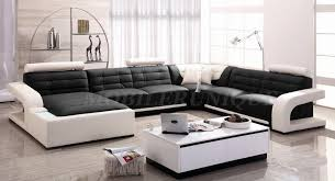 canap cuir noir et blanc canapé d angle panoramique cuir italien 2 couleurs