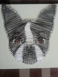 string art boston terrier string art pinterest string art