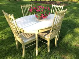 vintage thomasville faux bamboo 5 piece dining set four chairs and