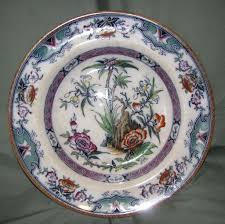 circa 1860 soup plate enameled oriental design milan from