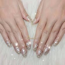 imagenes de uñas acrilicas con pedreria uñas con piedras de 110 diseños uñas decoradas nail art