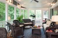Cozy Sunroom Furniture Cozy Sunroom Black Carpet Classic Sunroom Design