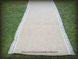 burlap wedding aisle runner 20 ft wedding burlap aisle runner with lace