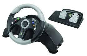 xbox 360 steering wheel microcon steering wheel black xbox 360 amazon co uk pc
