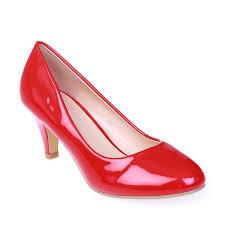 escarpins rouges simili cuir vernis femme pas cher la modeuse
