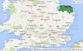 Oxford England Map by Norfolk Holiday Cottages On A Map