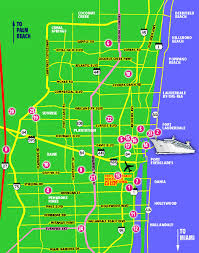 map of ft lauderdale maps update 760328 fort lauderdale tourist map international
