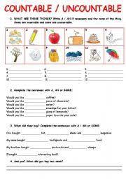 Countable And Uncountable Nouns Exercises Advanced Pdf Worksheets Countable Uncountable Worksheets Page 14
