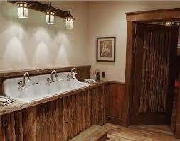 bathroom lighting ideas 3 rustic bathroom lighting on top of vessel sink home interiors
