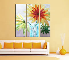 Decorative Glass Wall Panels 3 Panel Wall Decorative Modern Art Set Beautiful Flowers In Glass