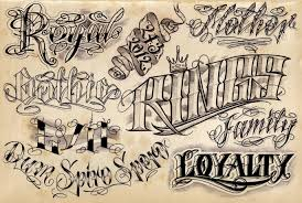 tattoo lettering font maker letter fonts tattoo template business