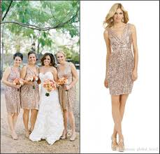 sparkly bridesmaids dress cheap sequined rose gold bridesmaids