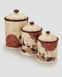 deere kitchen canisters bakers stoneware canister set 275 fitz and floyd
