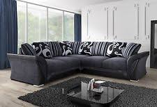 Black Fabric Sofa Fabric Sofas Seating U0026 Settees Ebay