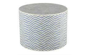 Turquoise Side Table Home Trends U0026 Design Noir Turquoise Blue Bone Inlay Chevron Side