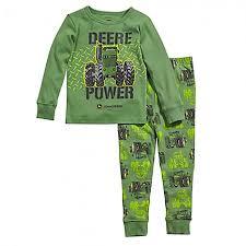 deere toddler infant pajamas rungreen