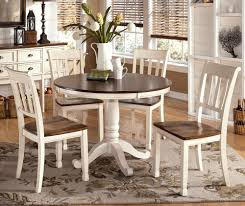 Dining Room Tables White by Emejing Round Dining Room Sets With Leaf Images Home Design