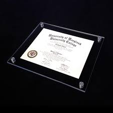 frames for diplomas vetro modern acrylic award frame aluma designs