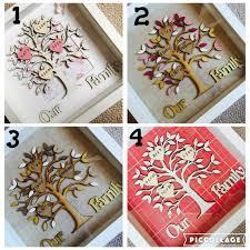 wooden family tree in box frame family tree gift family tree