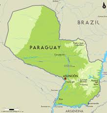 South America Map Physical by Large Physical Map Of Paraguay With Major Cities Paraguay